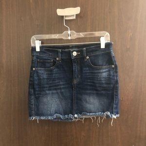 express jeans cut off denim skirt